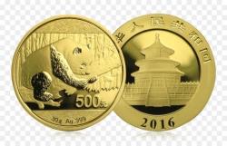 "Золотая монета ""Панда"", 500 юаней 30 грамм разные года с 2016 г."